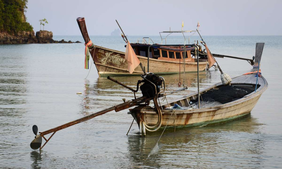 Long Tail Boats off Koh Yao Noi (Christopher Roche)