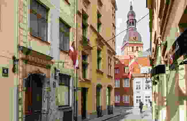 A snap of Riga's Old Town during spring (Dreamstime)