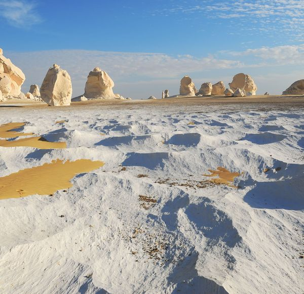 If you like this, try... the White Desert. Camp and hike out amid the weird chalk formations of Egypt's Western Desert, on the fringes of the Sahara.
