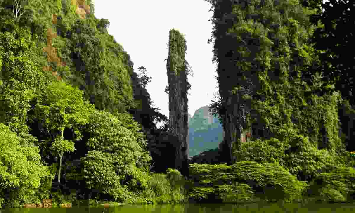 Limestone cliffs in Malaysia (Dreamstime)
