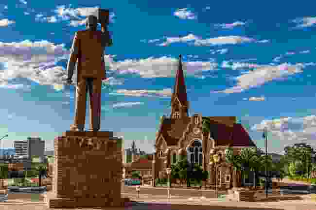 Statue of Namibia's first president, looking towards Christuskirche (Shutterstock)