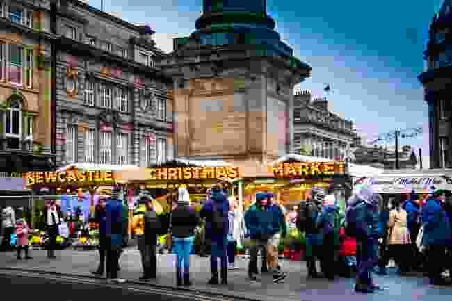 Christmas market on Grey Street, Newcastle (Shutterstock)