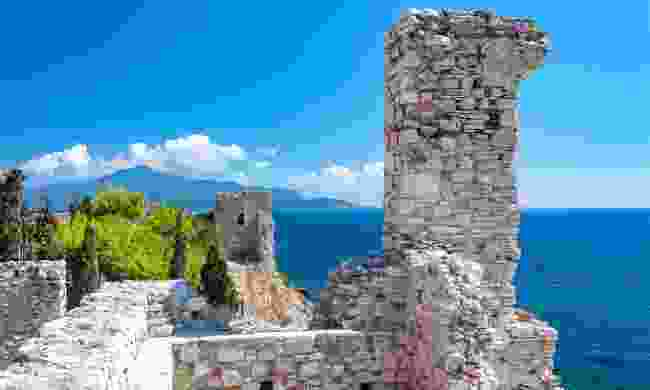 Ancient ruins overlooking the sea in Samos Town  (Shutterstock)