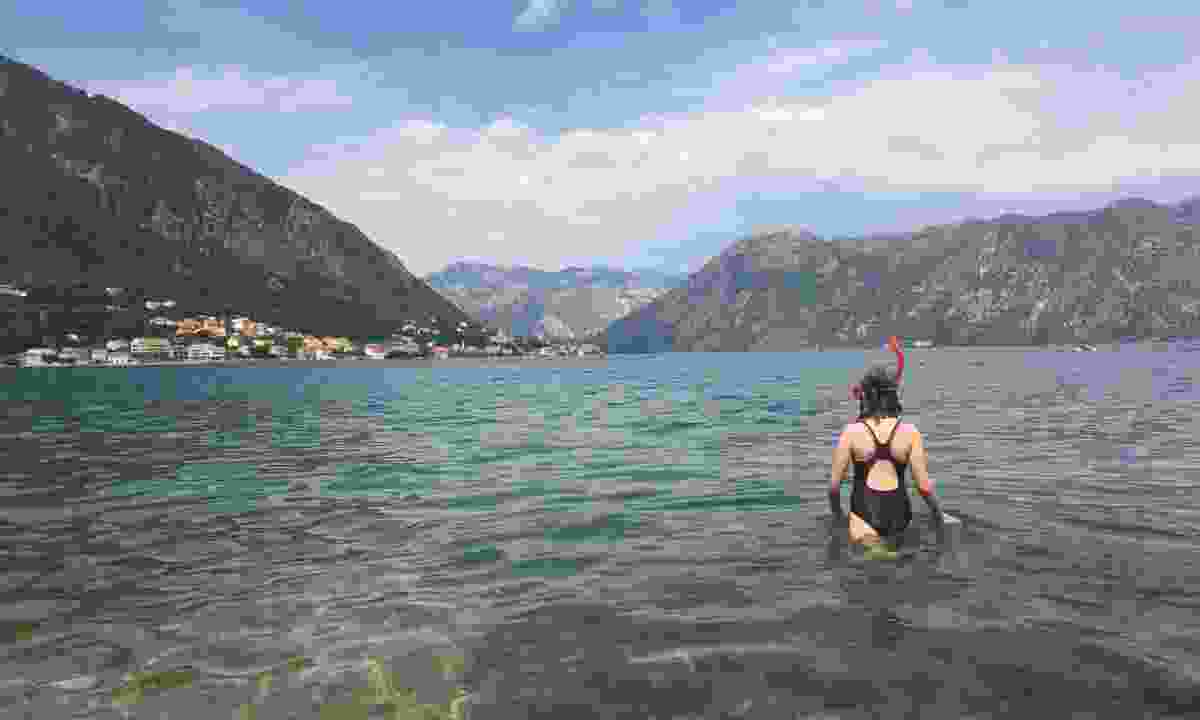 Swimming in the Bay of Kotor (Dreamstime)