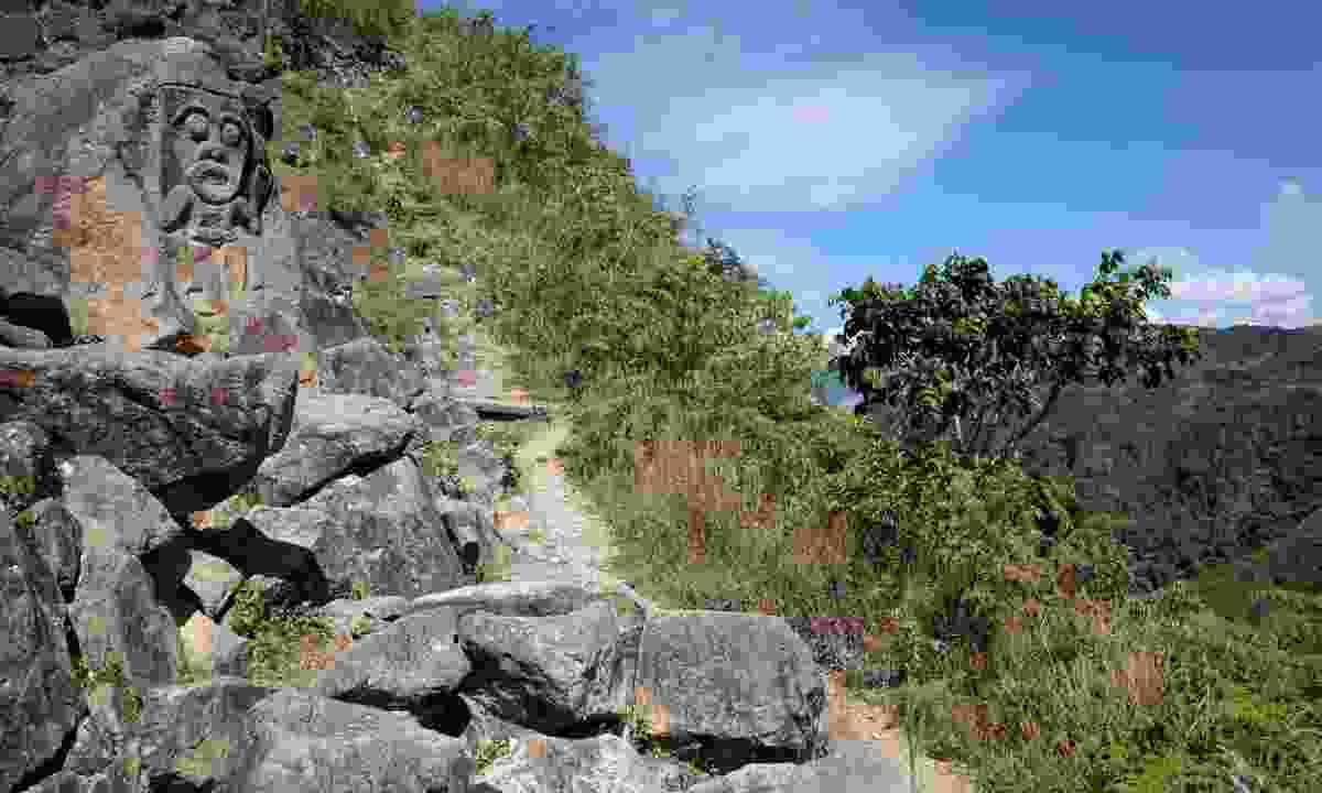 Ancient mountain carving in San Agustín Archaeological Park (Dreamstime)
