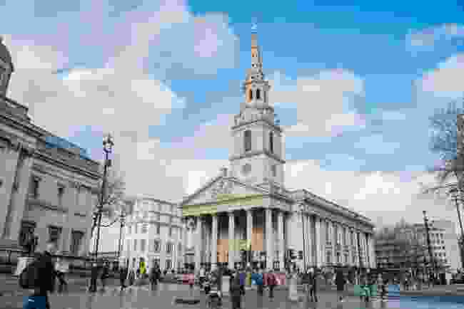 St Martin-in-the-Fields, Trafalgar Square. (Dreamstime)