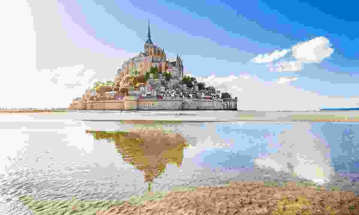 The Pilgrim's Trail ends at the UNESCO World Heritage Site Mont-Saint-Michel (Dreamstime)