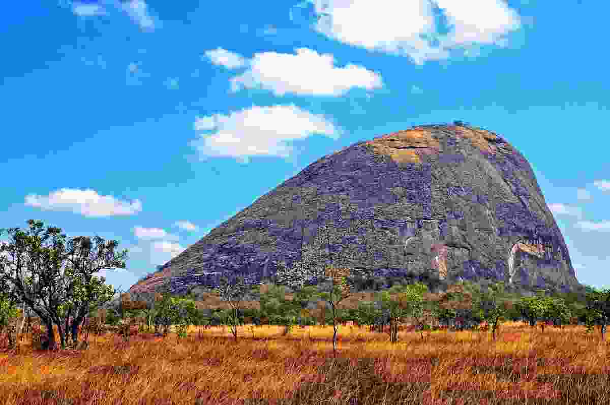 Granite hill in the Niassa province of Northern Mozambique, home to a variety of wild animals (Dreamstime)