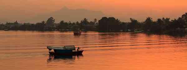 A boat in Borneo. (Dreamstime)
