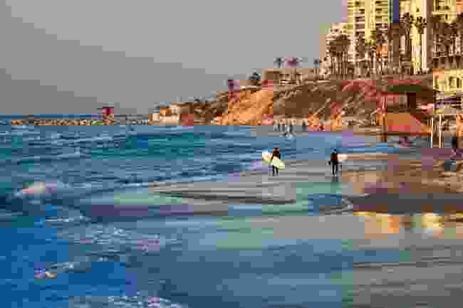Surfing in Tel Aviv, Israel (Shutterstock)