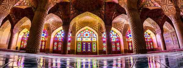 The interior of Nasir-ol-molk Mosque (Creative Commons: MohammadReza Domiri Ganji)