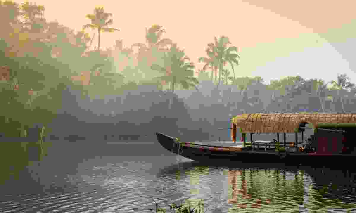 A traditional house boat anchored in Kerala's Backwaters (Shutterstock)