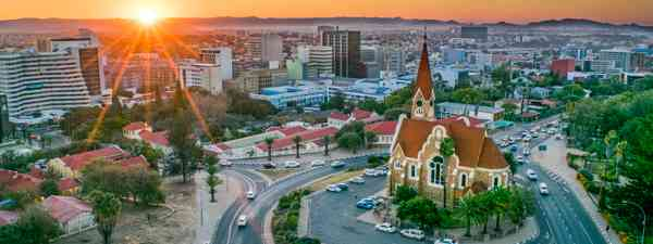 Windhoek at sunset (Shuttertsock)