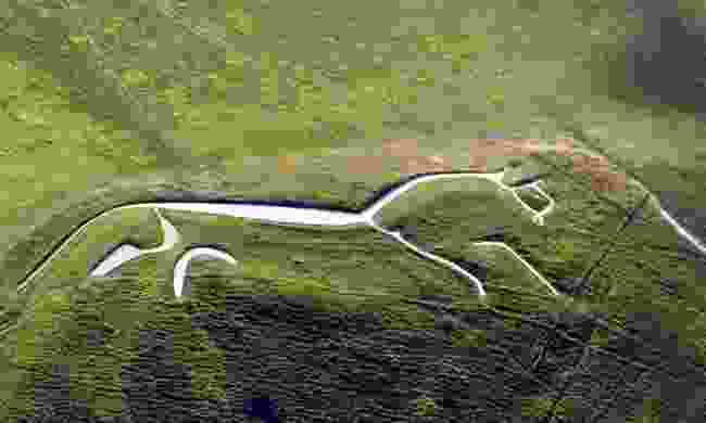 The Uffington White Horse from above (English-Heritage.org)