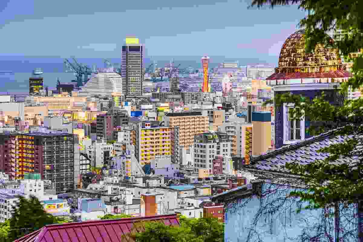 Kobe, Japan, as seen from neighbouring Kitano (Shutterstock)