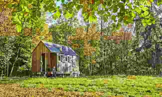 Wooden cabin camping in wild Bavaria (bayern.by/ Gert Krautbauer)