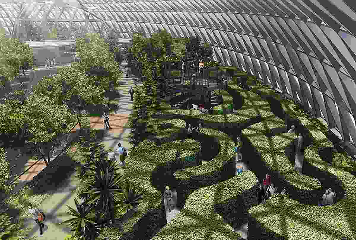 The Hedge Maze in Jewel Changi Airport, Singapore (Jewel Changi Airport's Official Website)