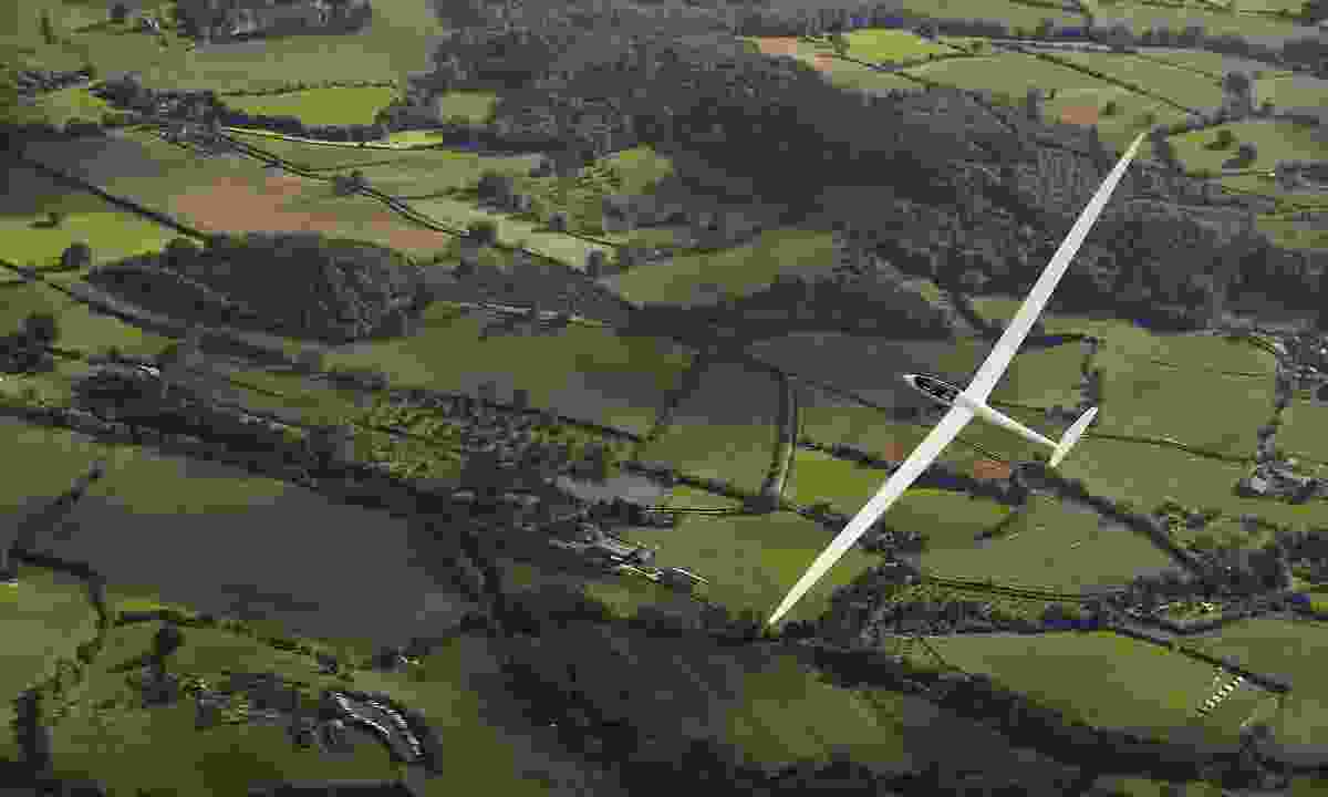 A glider over England (Dreamstime)