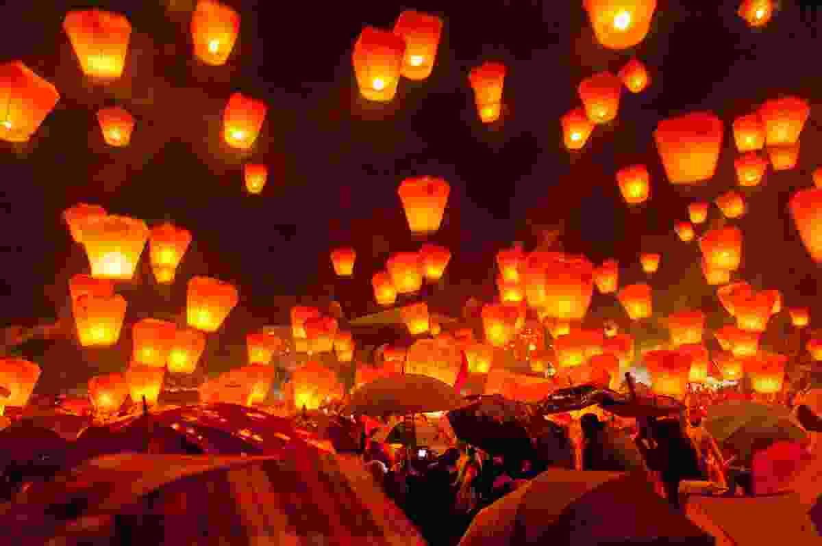 Pingxi Lantern Festival, Taiwan (Shutterstock)