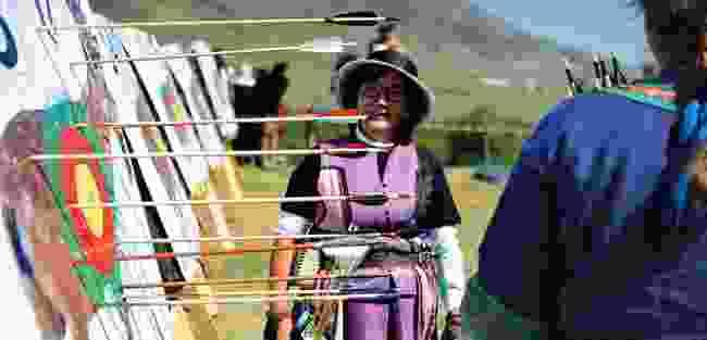 Kyrchyn Gorge Archery Compeition at the Kyrgyzstan World Nomad Games (Mark Stratton)
