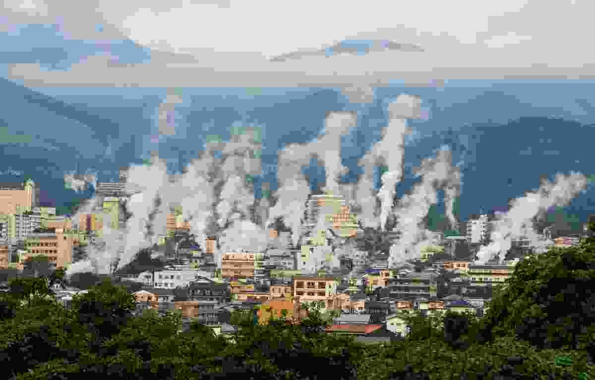 Onsen steam rising in Beppu, in the Oita Prefecture, Japan (Shutterstock)