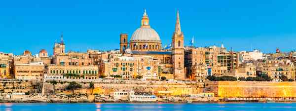 Valletta in the evening (Dreamstime)