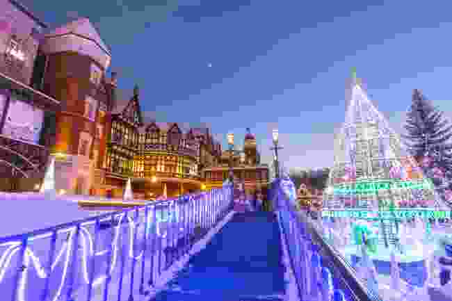 Sapporo Snow Festival outside of Sapporo's Chocolate Factory, Japan (Shutterstock)