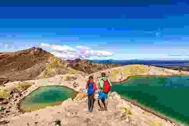 Hikers explore Tongariro National Park, New Zealand (Shutterstock)