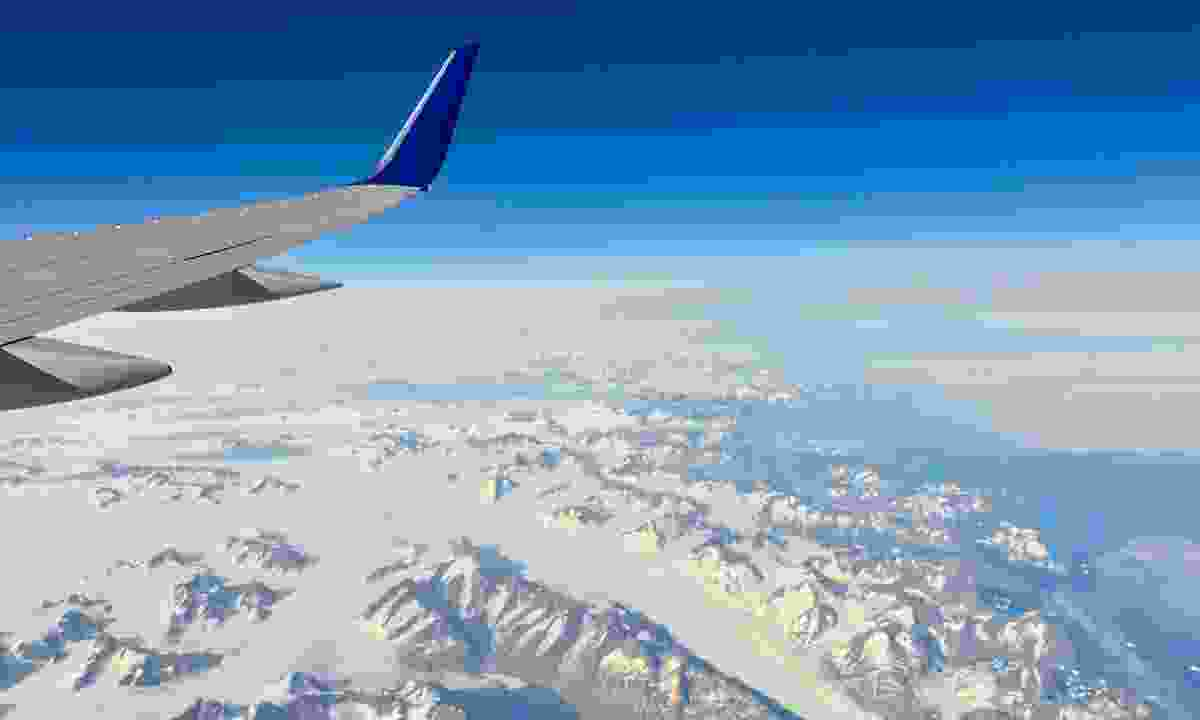 A view of east Greenland from the plane (Dreamstime)