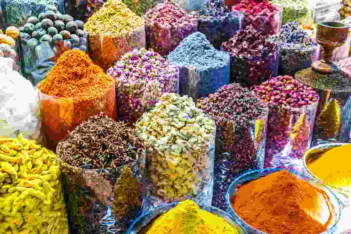 An array of spices in Dubai's Spice Souk (Shutterstock)
