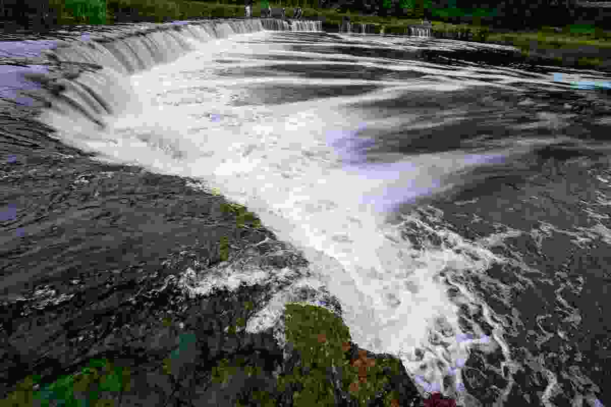 Venta Waterfall, the widest waterfall in Europe, in Kuldīga, Latvia (Dreamstime)