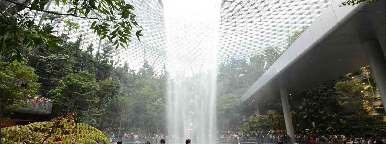 Changi Airport's Indoor Waterfall (Shutterstock)