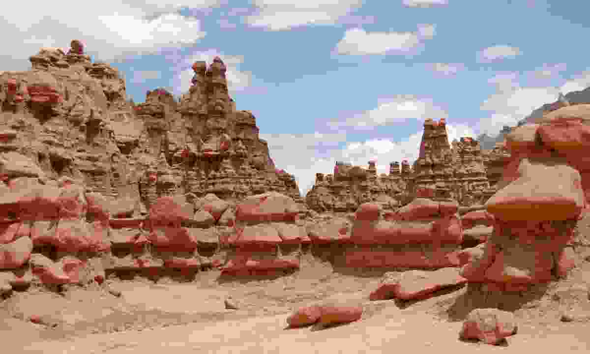 The strange geological formations of Goblin Valley State Park have formed over millions of years