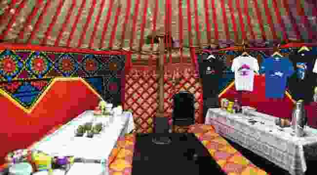The cosy yurt interior (Mark Stratton)