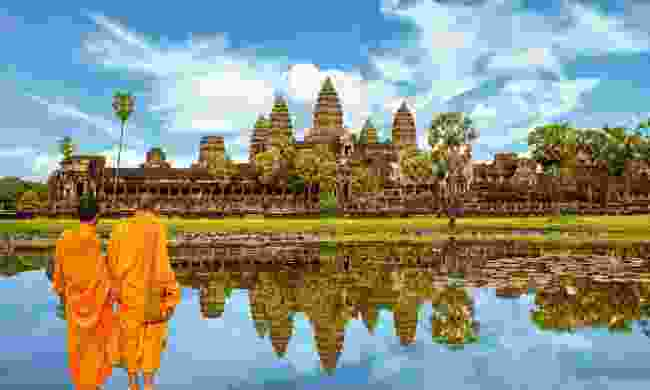 Head to Angkor Wat at breakfast time to dodge tour groups (Shutterstock)
