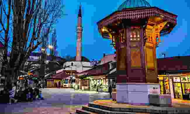 Sebilj Fountain in Pigeon Square in Sarajevo (Shutterstock)