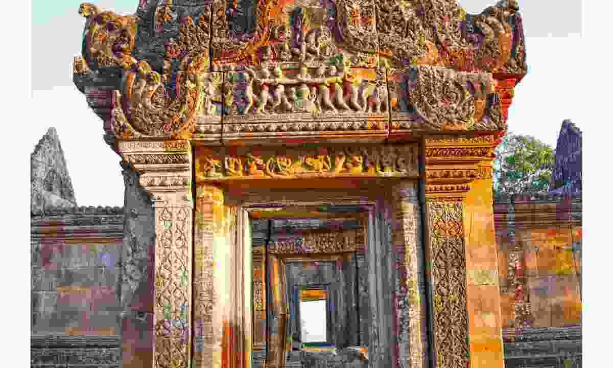 Make for the Thai border to admire the beautiful sandstone complex at Preah Vihear (Dreamstime)