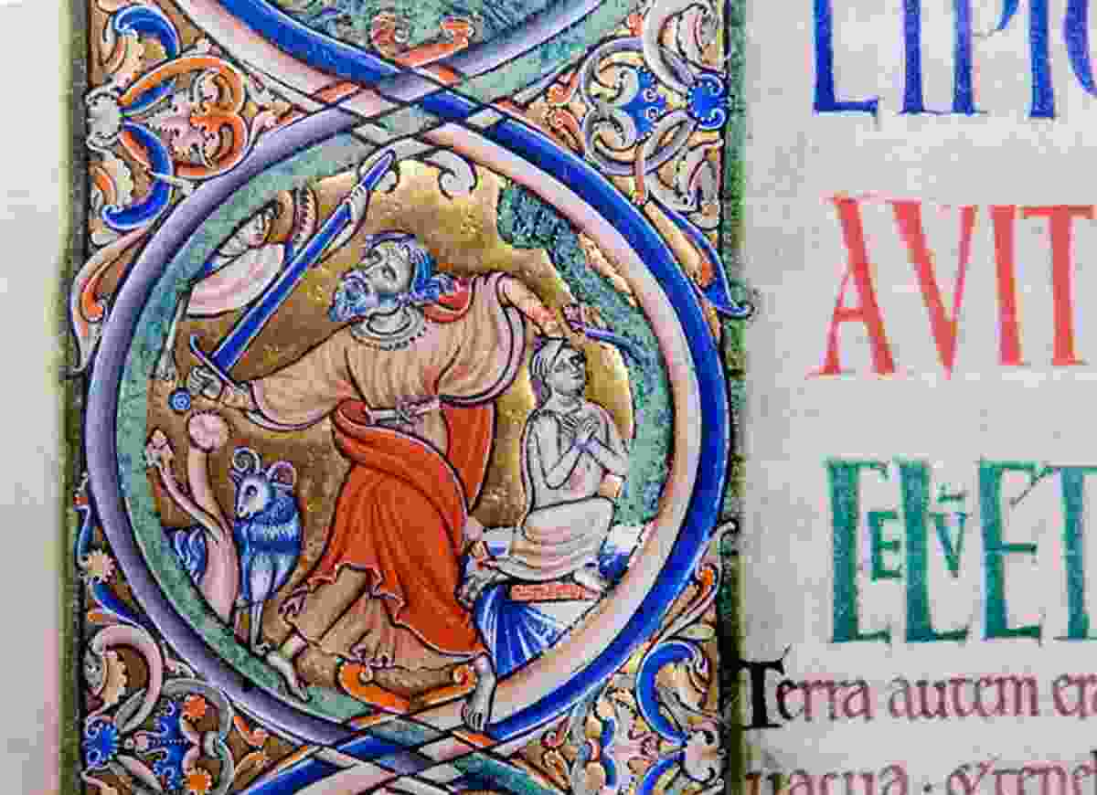 An illustration in the Winchester Bible (Winchester Cathedral)