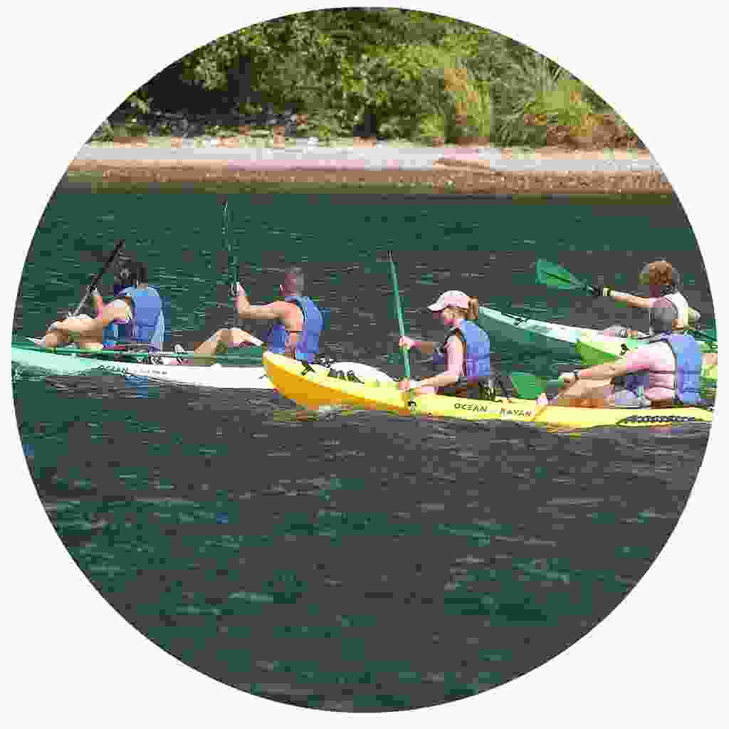 Explore the landscapes by kayak