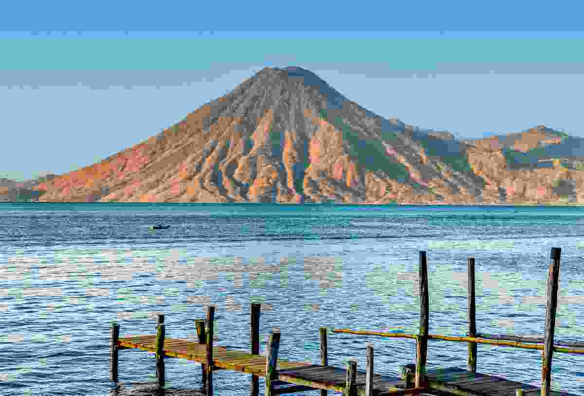 Volcan San Pedro on Lake Atitlán (Sarah Gilbert)