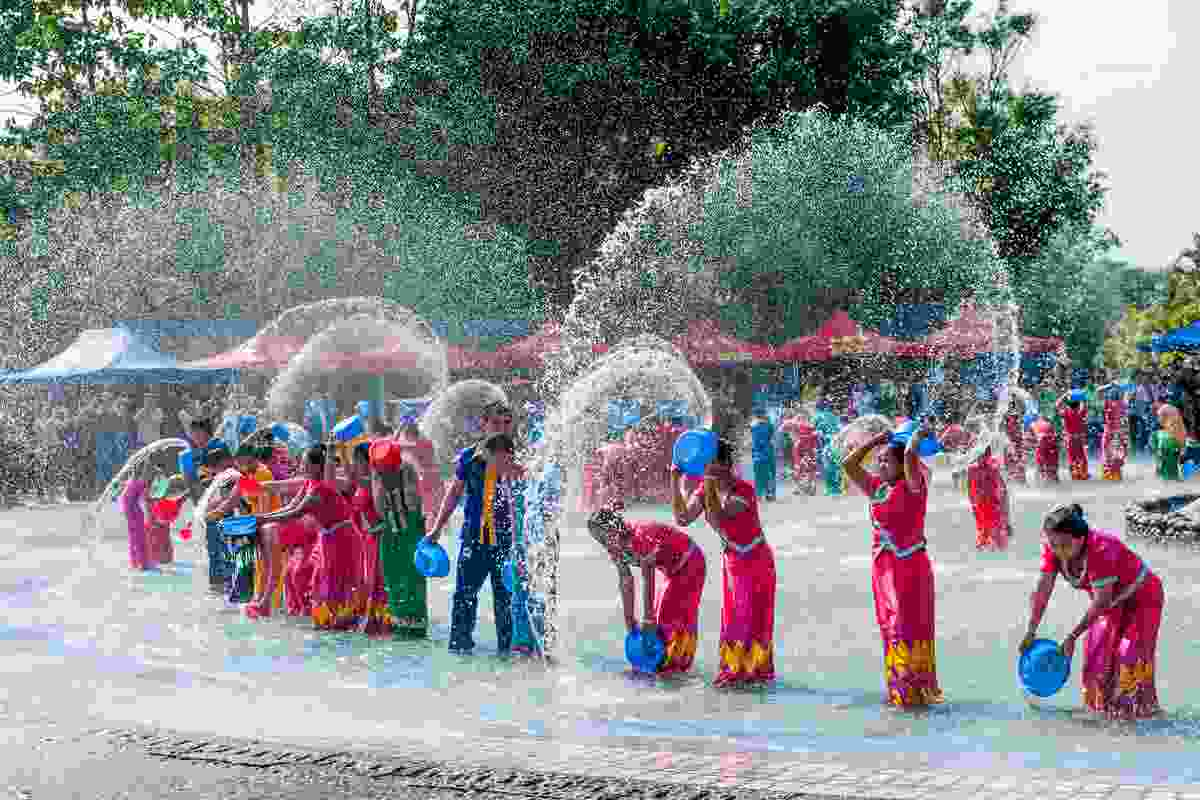 Water-splashing during the Songkran Festival in Thailand (Dreamstime)