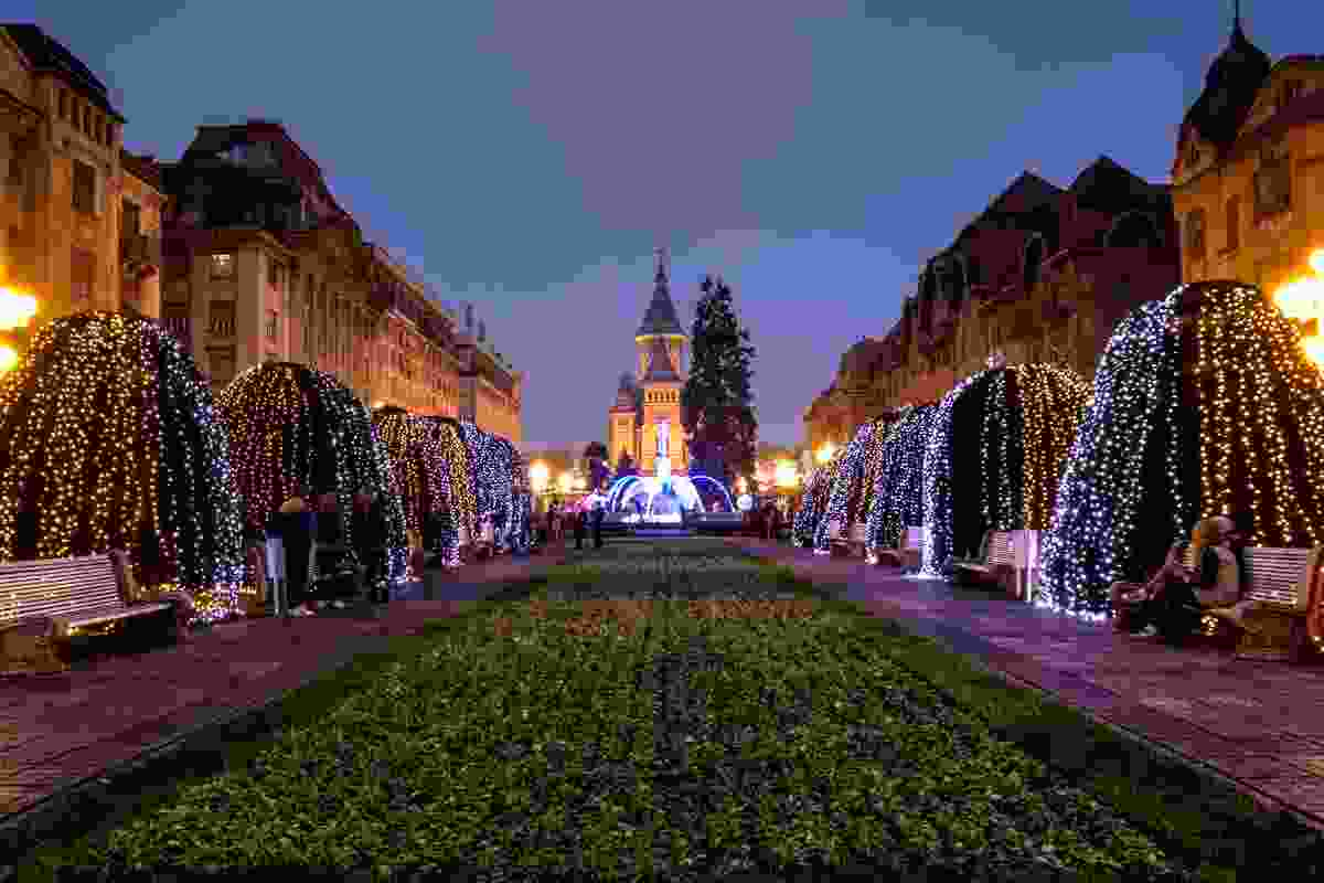 Timisoara at Christmas time (Dreamstime)