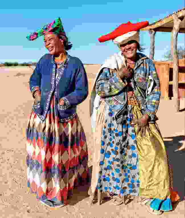 Herero women in traditional headdresses, Namibia (Shutterstock)
