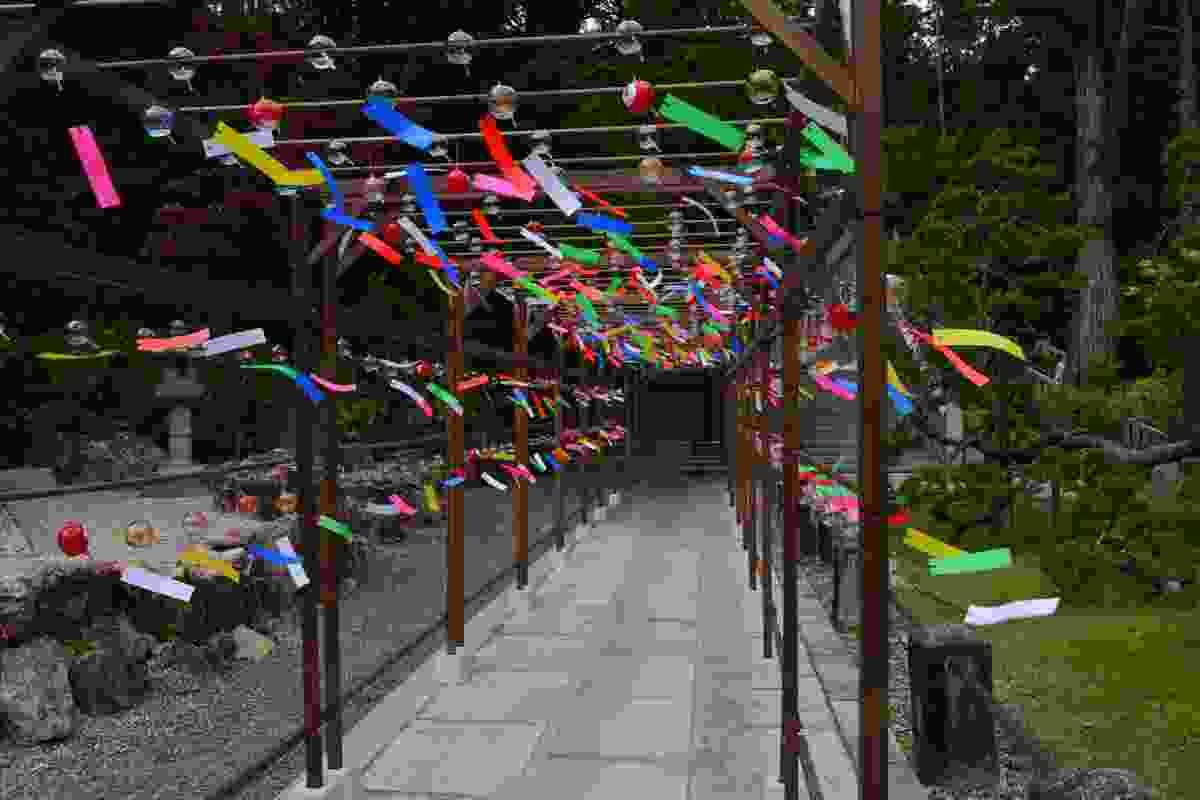 Wind bells on display in Iwata, Japan (Shutterstock)