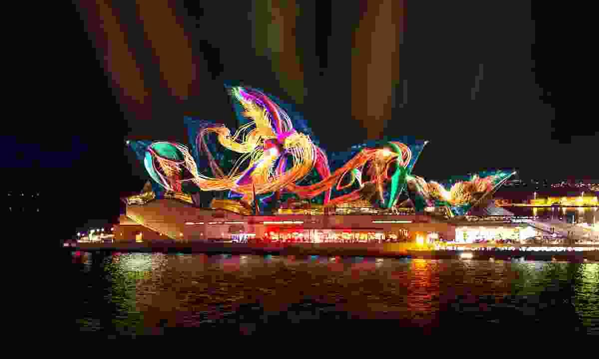 Austral Floral Ballet, Sydney Opera House (Andrew Thomas Huang & Bemo)