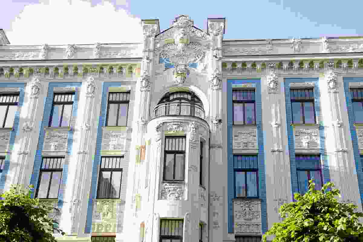 The Jugendstil building in the Art Nouveau district, Riga, Latvia (Shutterstock)