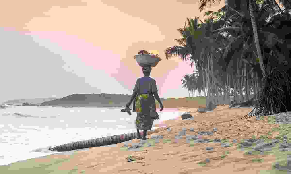 Sunset on a Ghanaian beach (Shutterstock)