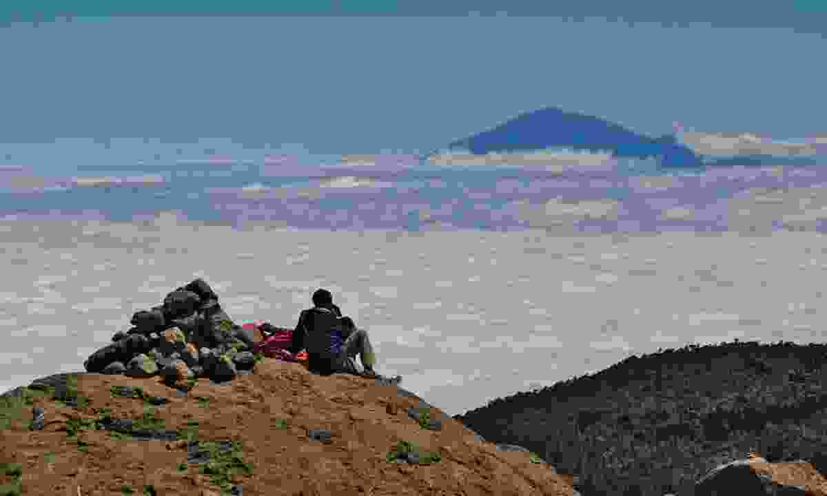 Getting peace and quiet at the top of Kili (Dreamstime)