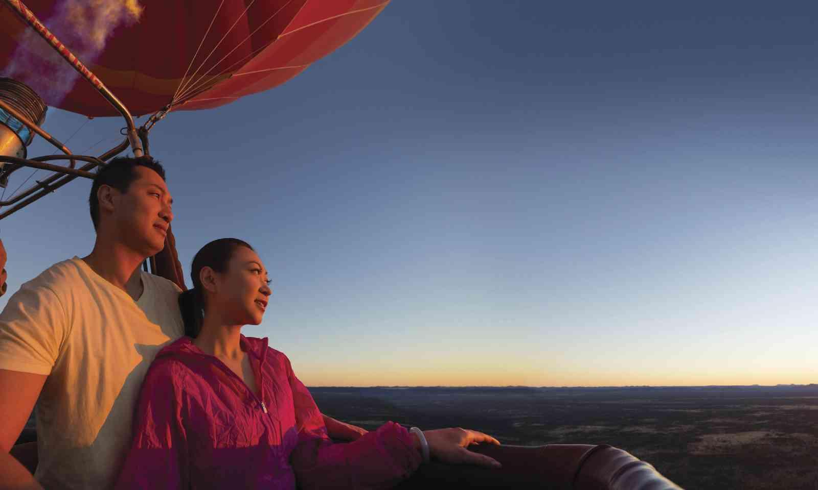 Hot-air ballooning at sunrise (Tourism NT)