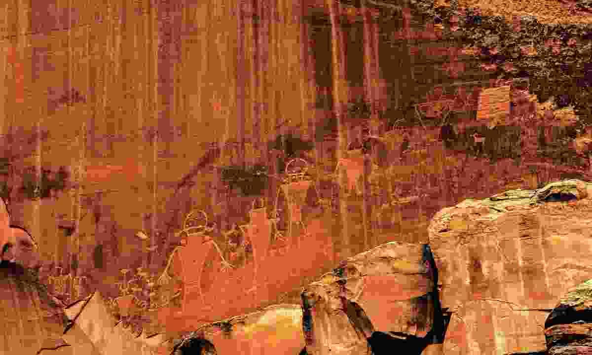 A carving on Newspaper Rock, Utah (Shutterstock)